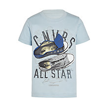 Buy Converse Boys' Sneaker Clash Print T-Shirt, Blue Online at johnlewis.com