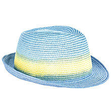 Buy John Lewis Ombre Trilby Hat, Blue/Yellow Online at johnlewis.com
