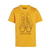 Buy Converse Boys' Over The Top Printed T-Shirt, Orange Online at johnlewis.com
