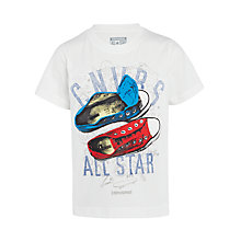Buy Converse Boys' Sneaker Clash T-Shirt, White Online at johnlewis.com