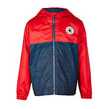 Buy Converse Boys' Colour Block Anorak Jacket, Red/Navy Online at johnlewis.com