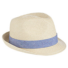 Buy John Lewis Boys' Solid Trilby Hat, Natural Online at johnlewis.com