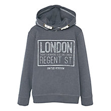 Buy Mango Kids Boys' Printed Hoodie, Dark Grey Online at johnlewis.com