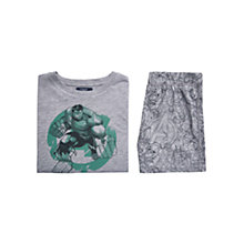 Buy Mango Kids Boys' Hulk Superhero Pyjama Set, Grey Online at johnlewis.com