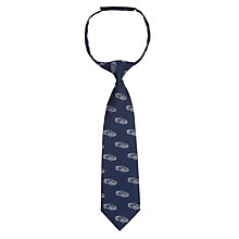 Buy John Lewis Boys' Car Tie, Navy/Grey Online at johnlewis.com