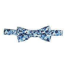 Buy John Lewis Boys' Floral Print Bow Tie, Blue/White Online at johnlewis.com