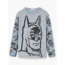 Buy Mango Kids Boys' Batman Print Pyjama Set, Grey Online at johnlewis.com