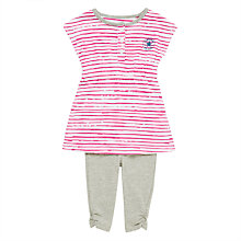 Buy Converse Baby Dress And Leggings Set, Pink/Grey Online at johnlewis.com
