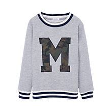 Buy Mango Kids Boys' Letter Sweatshirt, Grey Online at johnlewis.com