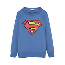 Buy Mango Kids Boys' Superman Sweatshirt, Blue Online at johnlewis.com