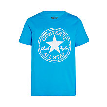 Buy Converse Boys' Chuck Patch T-Shirt, Blue Online at johnlewis.com