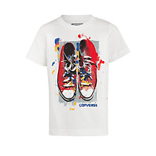 Buy Converse Boy's Artistic License T-Shirt, White Online at johnlewis.com