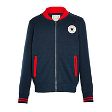 Buy Converse Boys' Knit Varsity Jacket, Navy Online at johnlewis.com
