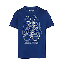 Buy Converse Boys' Over the Top Chucks T-Shirt, Blue Online at johnlewis.com