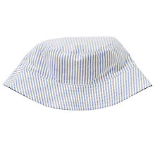 Buy John Lewis Boys' Reversible Ticking Stripe Bucket Hat, Navy Online at johnlewis.com