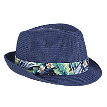 Buy John Lewis Children's Solid Trilby Hat, Navy Online at johnlewis.com