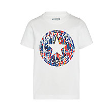 Buy Converse Boys' Chuck Fill Print T-Shirt, White Online at johnlewis.com