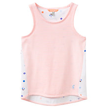 Buy Little Joule Girls' Stripe Jersey Vest, Pink Online at johnlewis.com