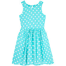 Buy Yumi Girl Polka Dot Print Sun Dress, Aqua Online at johnlewis.com