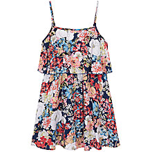 Buy Yumi Girl Floral Frill Dress, Navy Online at johnlewis.com