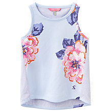 Buy Little Joule Girls' Floral Vest, Blue Online at johnlewis.com