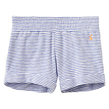 Buy Little Joule Girls' Stripe Jersey Shorts, Lavender Online at johnlewis.com
