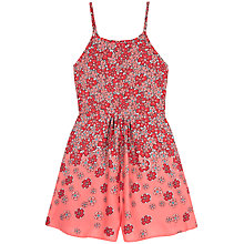 Buy Yumi Girl Fading Floral Playsuit, Pink Online at johnlewis.com