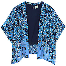 Buy Yumi Girls' Fading Floral Kimono Set, Blue Online at johnlewis.com