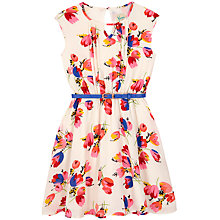 Buy Yumi Girl Floral Dress, White Online at johnlewis.com