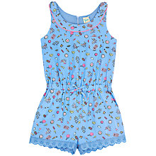 Buy Yumi Girl Pier Print Playsuit, Blue Online at johnlewis.com
