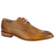 Buy Oliver Sweeney Darley Punch Hole Leather Gibson Shoes, Tan Online at johnlewis.com