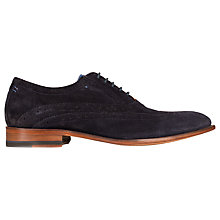 Buy Sweeney London Fellbeck Leather Lace-Up Brogues, Blue Online at johnlewis.com