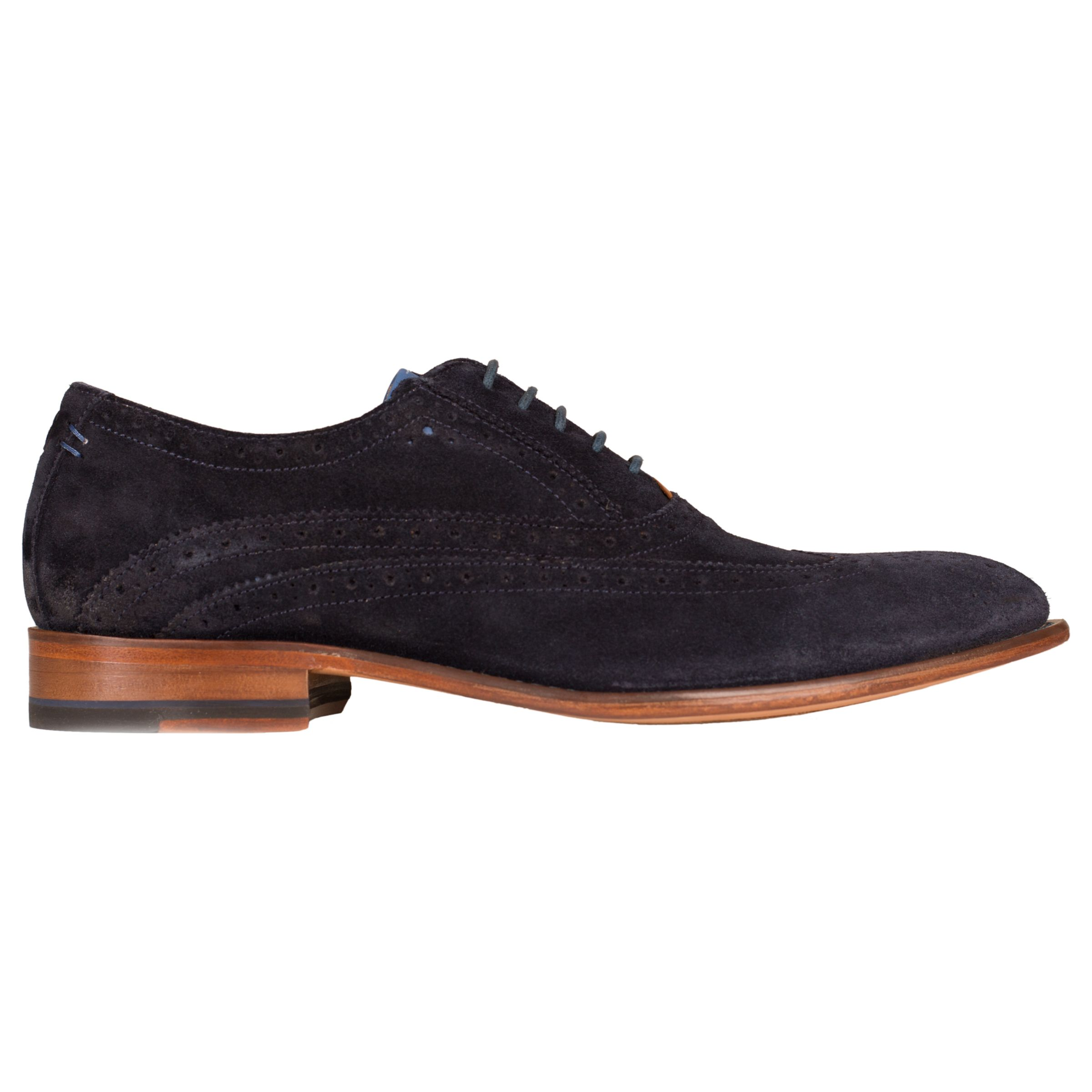 Oliver Sweeney Oliver Sweeney Fellbeck Leather Lace-Up Brogues, Blue