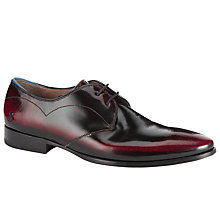 Buy Oliver Sweeney Morsang High Shine Leather Derby Shoes, Burgundy Online at johnlewis.com