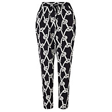 Buy Somerset by Alice Temperley Rope Print Trousers, Black/White Online at johnlewis.com