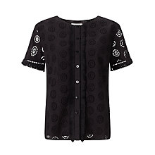 Buy Somerset by Alice Temperley Frayed Broderie Top Online at johnlewis.com