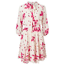 Buy Somerset by Alice Temperley Blossom Print Midi Silk Dress, Blush Online at johnlewis.com