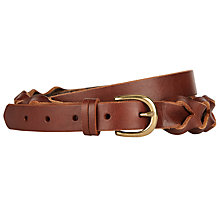 Buy John Lewis New Plait Leather Belt Online at johnlewis.com