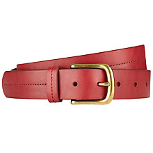 Buy John Lewis Juliette Leather Jeans Belt, Red Online at johnlewis.com