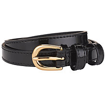 Buy John Lewis Emmie Skinny Patent Belt Online at johnlewis.com