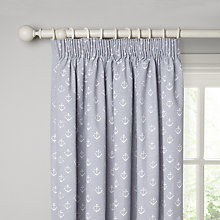 Buy John Lewis Anchors Lined Pencil Pleat Curtains, Pacific Online at johnlewis.com