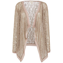 Buy Celuu Sienna Metallic Waterfall Cardigan, Taupe Online at johnlewis.com