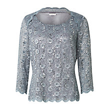 Buy Jacques Vert Stretch Lace Top, Dark Grey Online at johnlewis.com