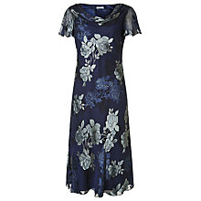 Buy Jacques Vert Bias Cut Devore Dress, Multi Navy Online at johnlewis.com