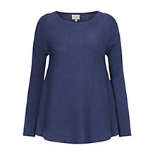 Buy East Merino Rib Swing Jumper, Indigo Online at johnlewis.com
