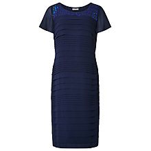 Buy Jacques Vert Sequin Pleated Dress, Navy Online at johnlewis.com