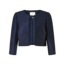 Buy Jacques Vert Edge to Edge Cropped Jacket, Navy Online at johnlewis.com