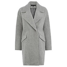 Buy Warehouse Texture Cocoon Coat, Light Grey Online at johnlewis.com