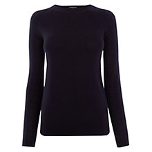 Buy Warehouse Diamante Sleeve Jumper, Navy Online at johnlewis.com