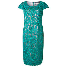 Buy Jacques Vert Cord Lace Two Tone Dress, Bright Green Online at johnlewis.com
